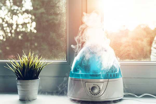 Humidifiers and Health Benefits   image of mist coming up
